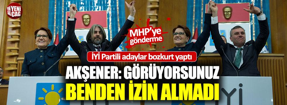 İYİ Partili adaylar 'Bozkurt' yaptı