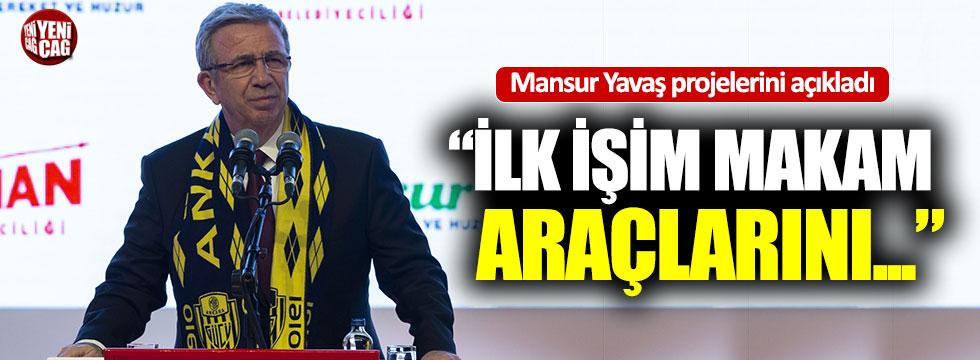 Mansur Yavaş projelerini anlattı