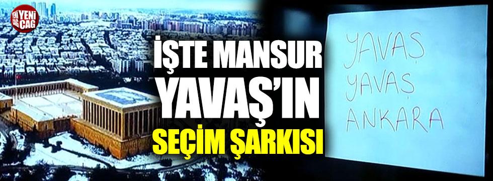 Mansur Yavaş'ın seçim şarkısı belli oldu