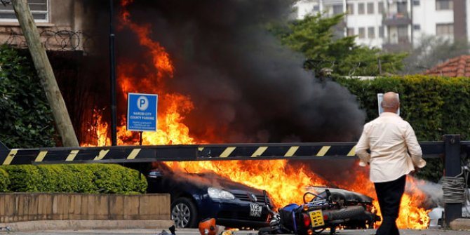 Kenya'da  otelde patlama!