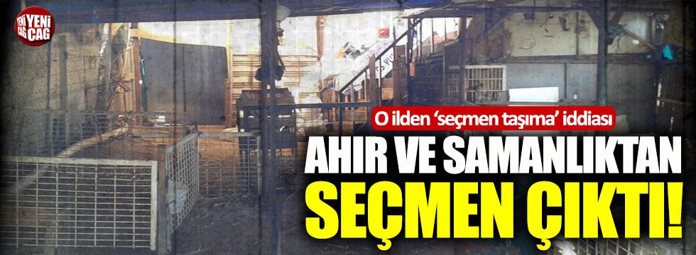 Samsun'da ahır ve samanlıktan seçmen çıktı iddiası