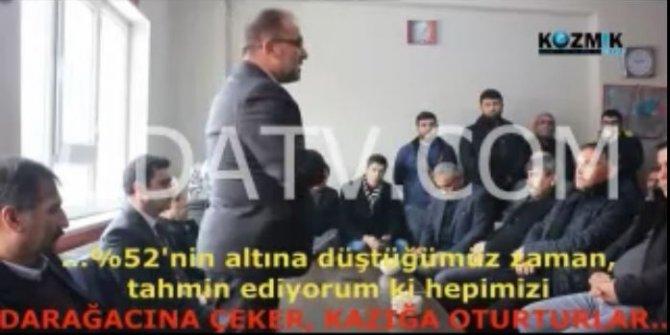 """AKP'li Başkan: """"Yüzde 52'nin altına düşersek darağacına çeker, kazığa oturturlar"""""""