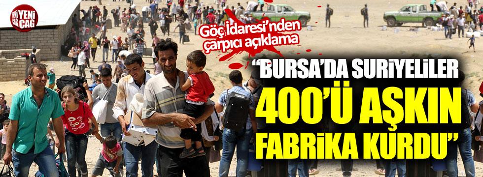 """""""Bursa'da Suriyeliler 400'ü aşkın fabrika kurdu"""""""