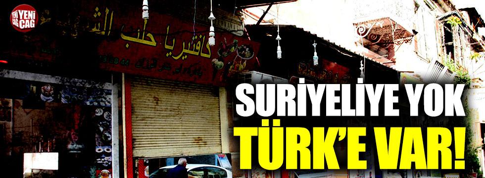 Suriyeliye yok Türk'e var!