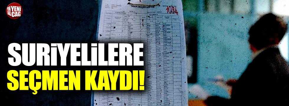 Suriyelilere seçmen kaydı!