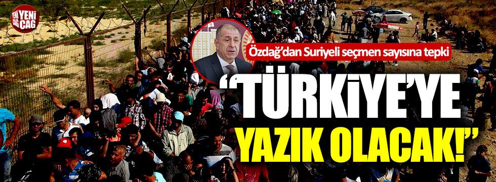 Ümit Özdağ'dan Suriyeli seçmen sayısına tepki!