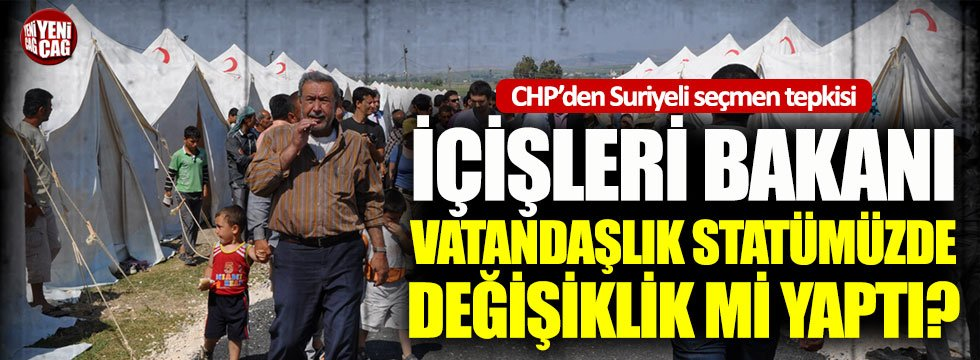 Bakan Soylu'nun Suriyeli seçmen açıklamasına CHP'den tepki