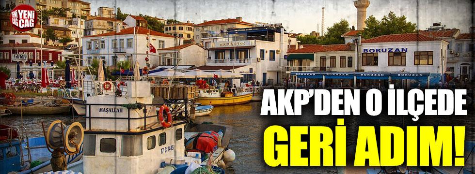 AKP'den Bozcaada'da geri adım