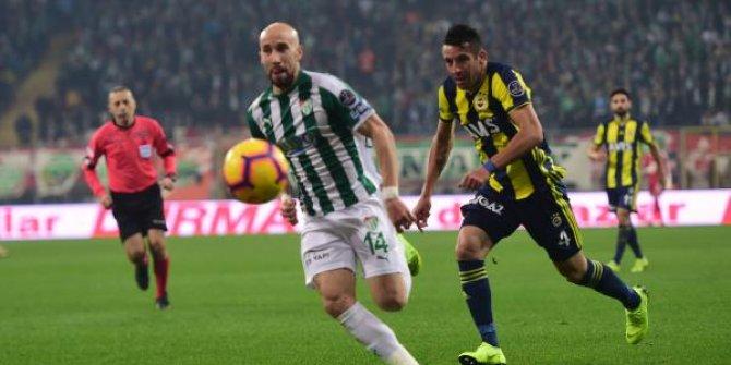 Bursaspor-Fenerbahçe 1-1 (Maç özeti)