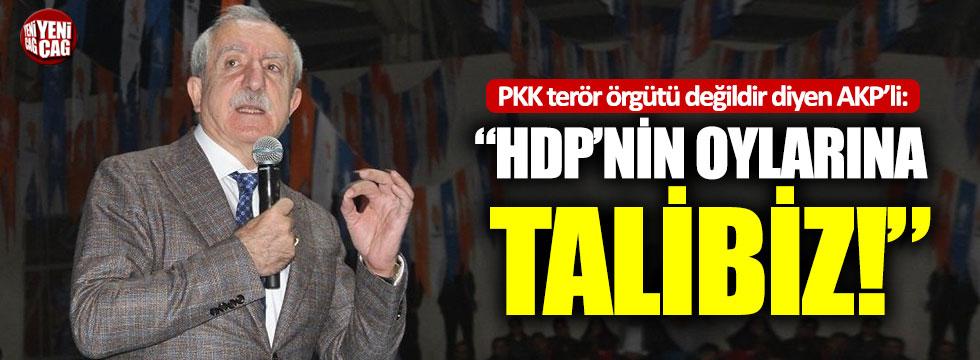 PKK terör örgütü değildir diyen AKP'li: HDP'nin oylarına talibiz