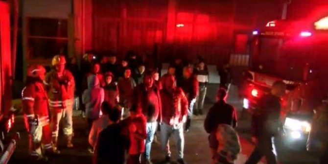Ümraniye'de yangın paniği: Sokağa döküldüler!