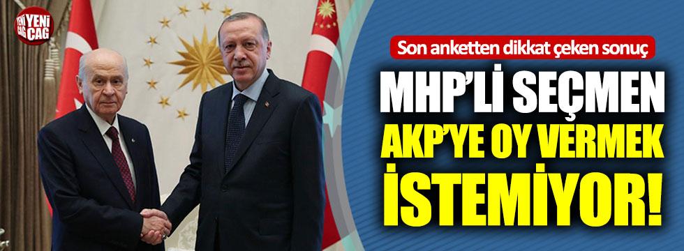 Son anketten dikkat çeken sonuç: MHP'li seçmen AKP'ye oy vermek istemiyor