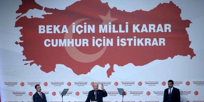 Bahçeli AKP'nin adayları için oy istedi