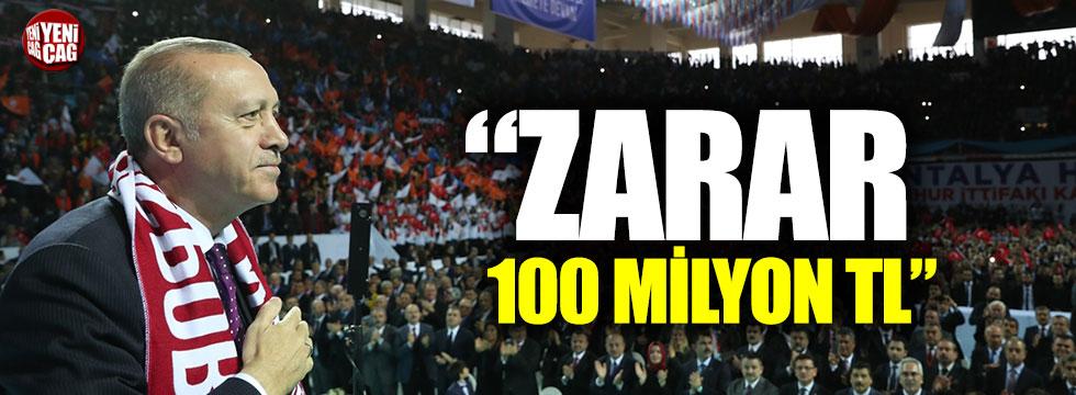 """Erdoğan: """"Antalya'da 100 milyon lira zarar """""""