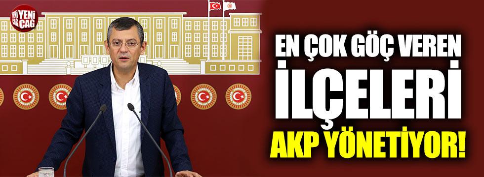 Özgür Özel: En çok göç veren ilçeleri AKP yönetiyor