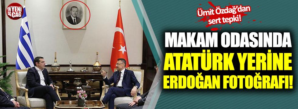 Ümit Özdağ'dan odasında Atatürk yerine Erdoğan'ın fotoğrafı olan Oktay'a sert tepki