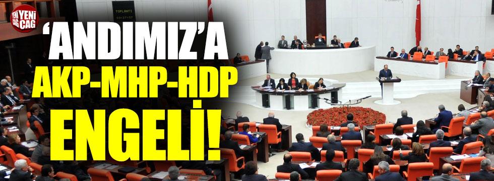 Andımız'a AKP, MHP ve HDP engeli
