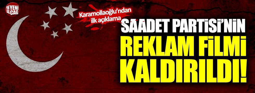 Saadet Partisi'nin Sülün Osman reklam filmi kaldırıldı!