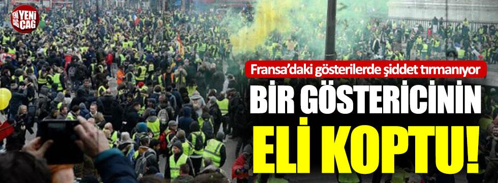Sarı Yelekliler protestolarında şiddet artıyor: Bir eylemcinin eli koptu!