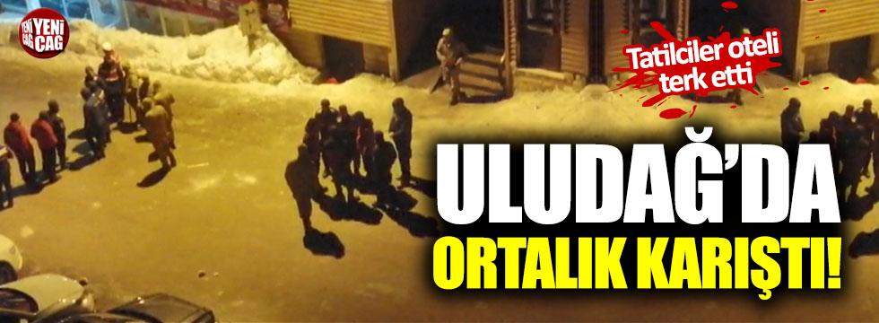 Uludağ'da ortalık karıştı! Tatilciler oteli terk etti!