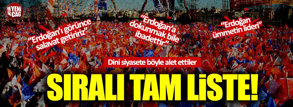 CHP'den 'Dini siyasete alet etme' listesi