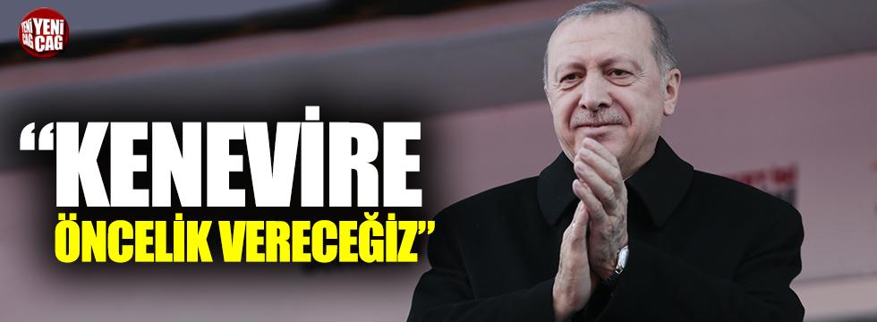 """Erdoğan: """"Kenevire öncelik vereceğiz"""""""