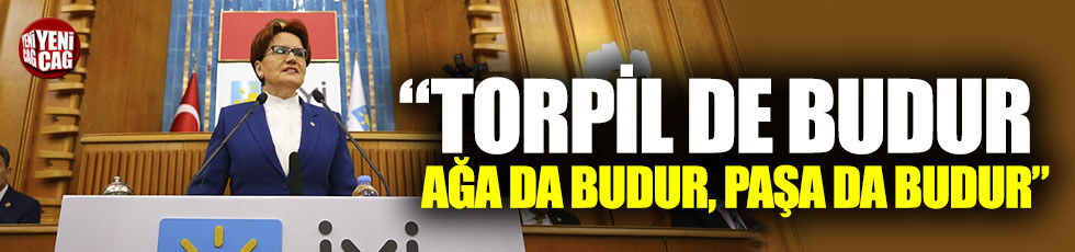 """Meral Akşener: """"Torpil de budur, ağa da budur, paşa da budur"""""""""""