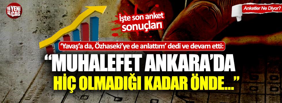 """Son anket sonuçları... """"Mansur Yavaş'a da, Mehmet Özhaseki'ye de anlattım"""""""