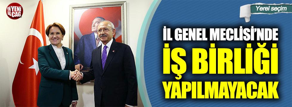 İl Genel Meclisi'nde iş birliği yok!