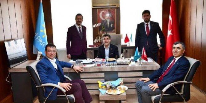 İmamoğlu'ndan İYİ Parti'ye ziyaret