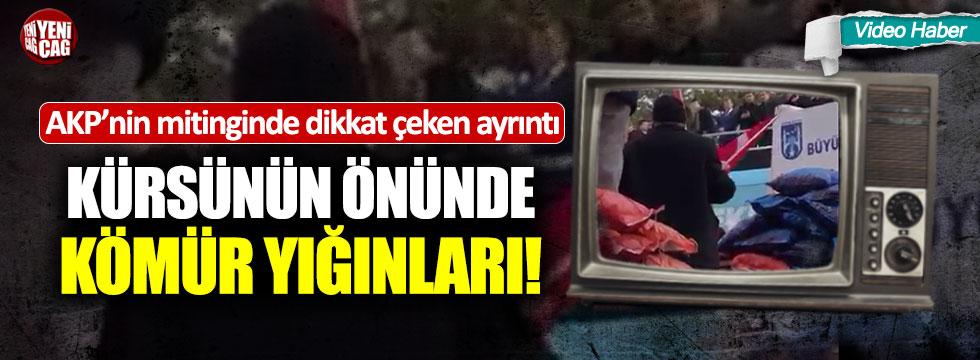 AKP'nin mitinginde dikkat çeken görüntü