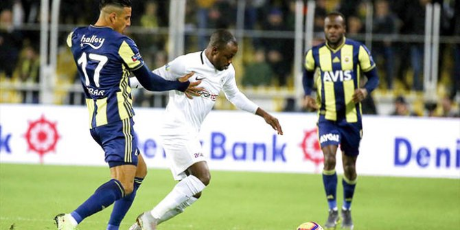 Fenerbahçe'ye kendi evinde beraberlik şoku