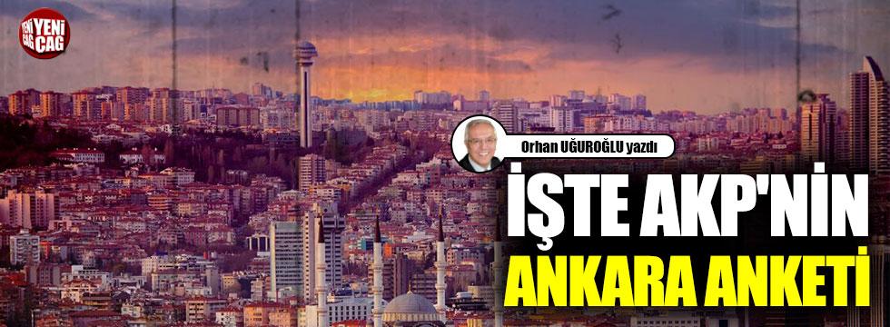 İşte AKP'nin Ankara anketi