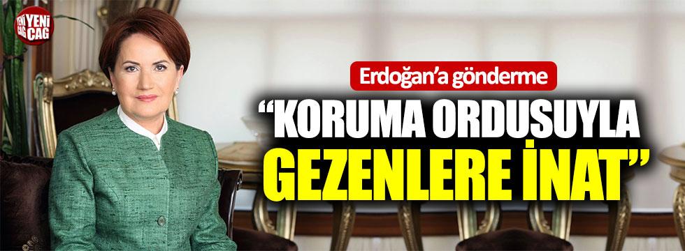"""Meral Akşener'den Erdoğan'a gönderme: """"Koruma ordusuyla gezenlere inat"""""""