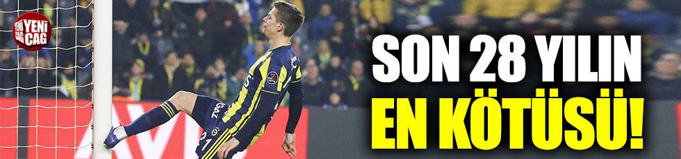 Fenerbahçe'den son 28 yılın en kötü iç saha performansı