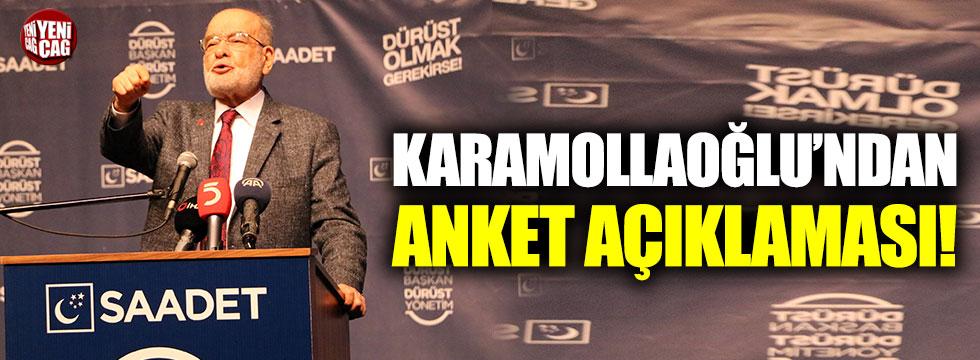 Temel Karamollaoğlu'ndan anket açıklaması
