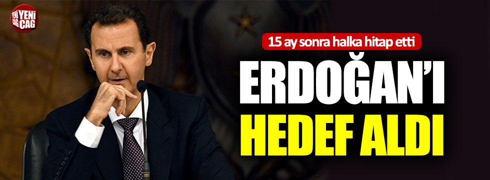 Beşar Esad, Erdoğan'ı hedef aldı