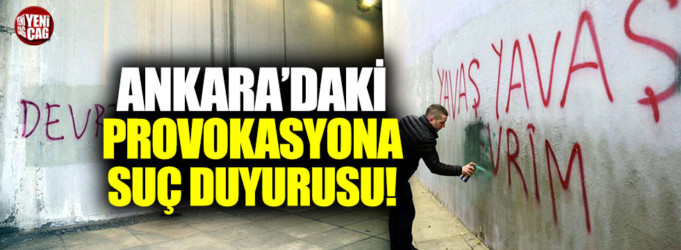 CHP Ankara'daki provokasyonu Savcılık'a taşıdı