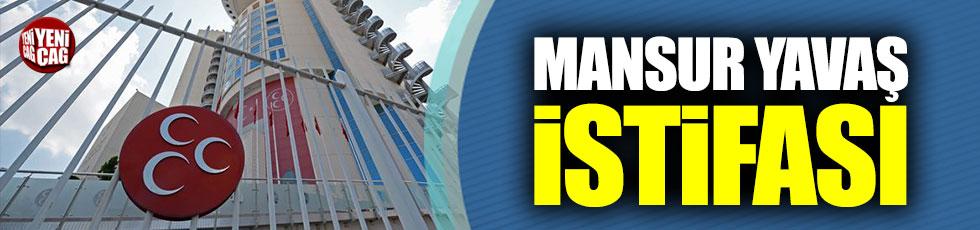 MHP'de Mansur Yavaş istifası