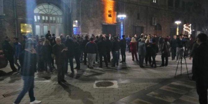 Yüzlerce vatandaş Burhanettin Kocamaz için toplandı