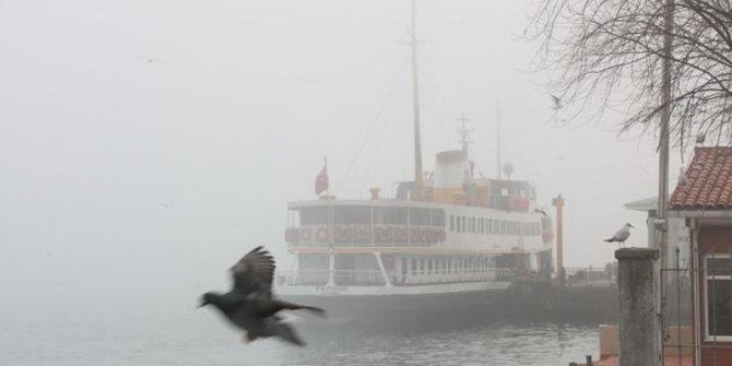 Yoğun sis nedeniyle tüm vapur seferleri iptal edildi