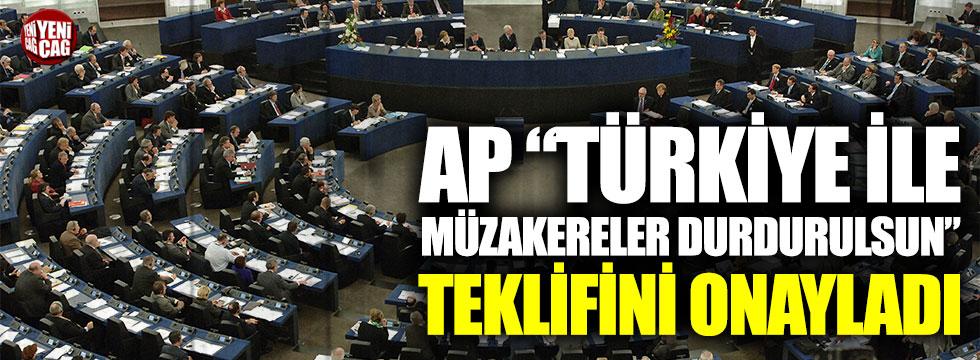 Avrupa Parlamentosu Türkiye önerisini onayladı