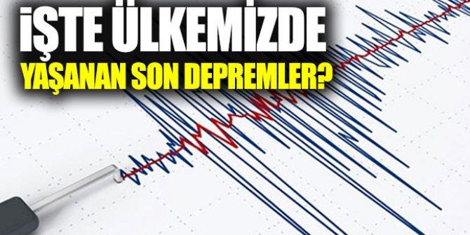Büyük Marmara depremi geliyor mu? İşte Ülkemizdeki son depremler?