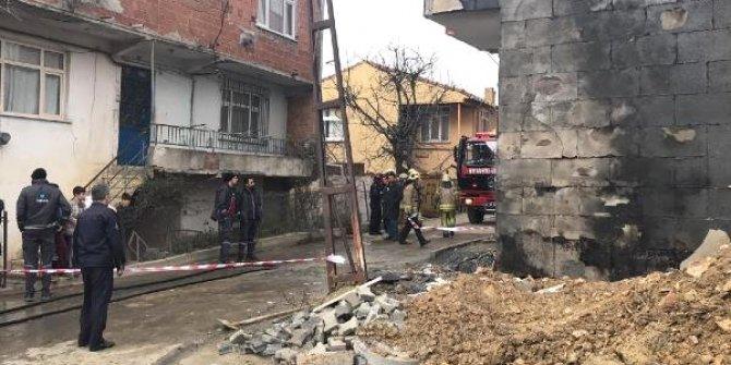 Arnavutköy'de doğalgaz borusu patladı