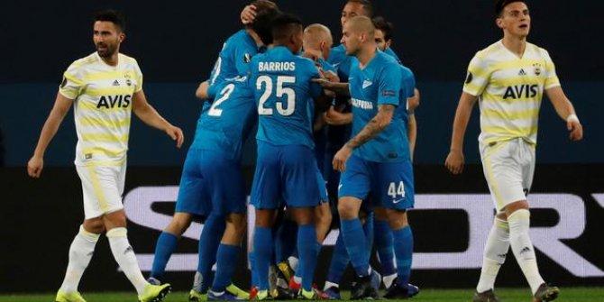 Zenit-Fenerbahçe maç sonucu: 3-1 (Maç Özeti)