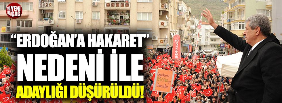 """CHP'li başkanın adaylığı """"Erdoğan'a hakaret"""" nedeni ile düşürüldü"""