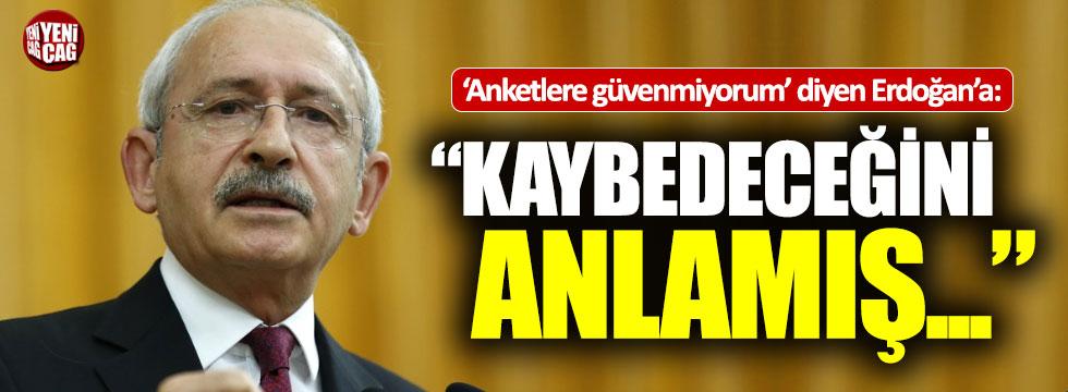 Kılıçdaroğlu'ndan Erdoğan'a anket cevabı