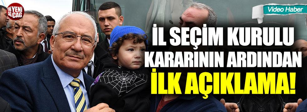 Seçim kurulunun kararının ardından Burhanettin Kocamaz'dan ilk açıklama