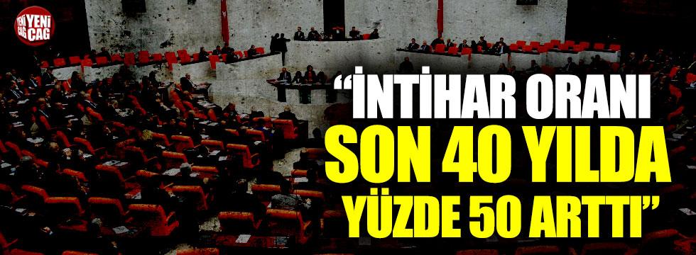 İntihar vakaları Meclis gündeminde