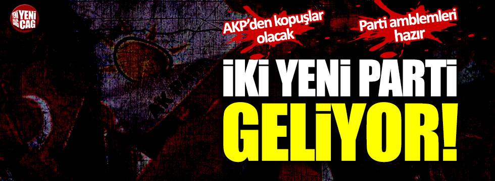 """İki yeni parti geliyor: """"AKP'den kopuşlar olacak. Parti amblemleri hazır"""""""